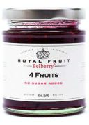 Belberry - Suikervrije 4 vruchten confiture - 215 g