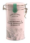 Cartwright & Butler - Strawberry White Chocolate Koekjes in Bewaarblik - 200 gram