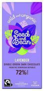 Seed and Bean - Pure Chocolade 72% Lavendel - Bio - 85 g
