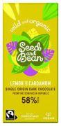 Seed & Bean - Pure Chocolade 58% - Lemon & Cardamom - 85 gram