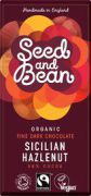 Seed & Bean - Pure Chocolade 58% - Hazelnoot - 85 g