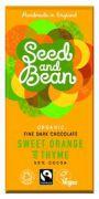 Seed & Bean - Pure Chocolade 58% - Sinaasappel en Tijm - 85 gram