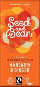 Seed & Bean - Pure Chocolade 72% - Mandarijn & Gember - 85 gram