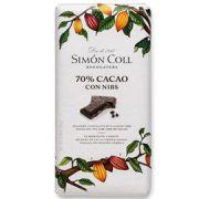 Simon Coll - Pure Chocolade 70% met Nibs - 85 g
